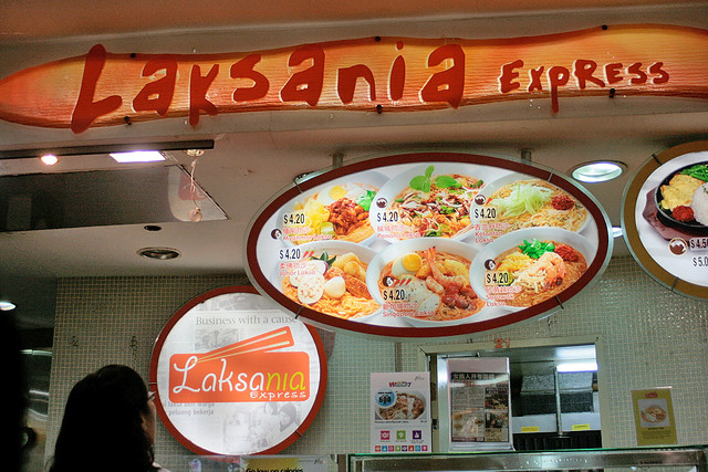 Laksania is at Kopitiam Vivocity - the lady helps employ people with special needs