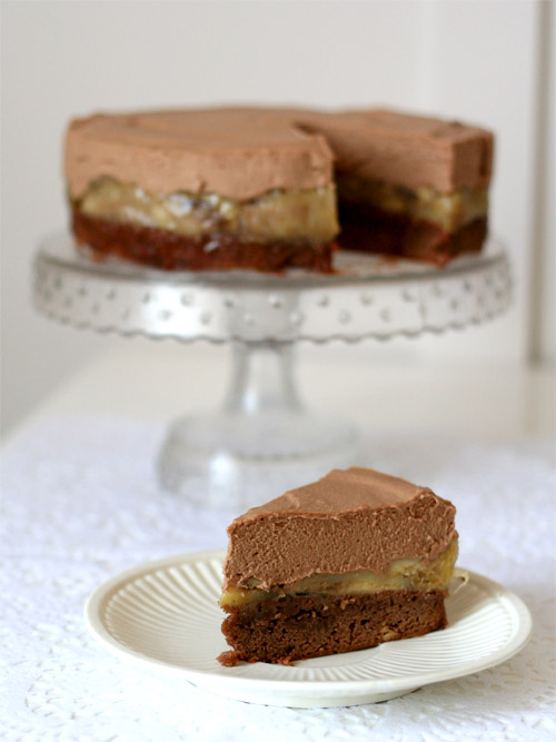 Chocolate and Peanut Butter Mousse Cake - Spicyicecream