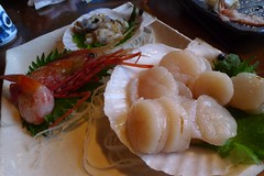 Scallop, Octopus and Prawn Sashimi