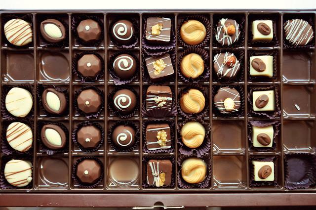 caixa de chocolates cacau show