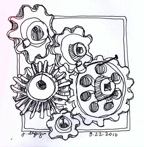 gears continuous line