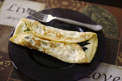Swiss and Roasted Asparagus Omelet