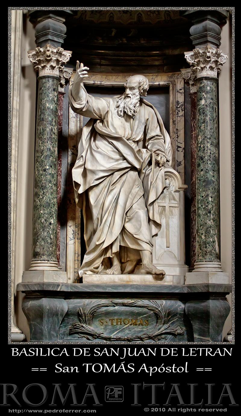 Roma - Basílica de San Juan de Letrán - San Tomás Apóstol