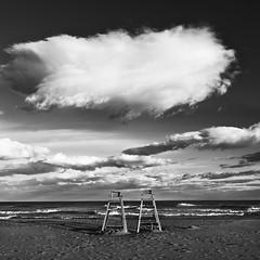 Vigilando a la par (José Andrés Torregrosa) Tags: sea blancoynegro clouds canon mar blackwhite playa nubes cartagena 2010 joseandres calblanque 40d regiondemurcia