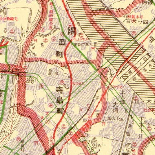 Tamanoi Map on 1925(T14)