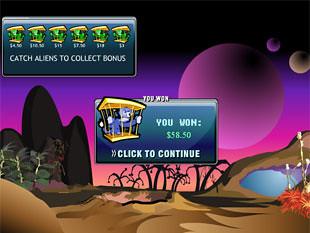 free Alien Hunter gamble bonus feature