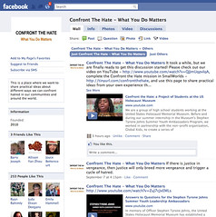 confront the hate Facebook page