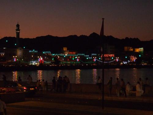 Nighttime on Corniche at Muttrah