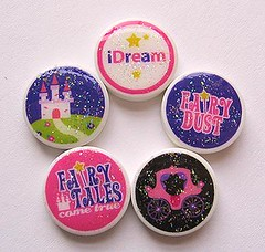Fairy Tale Princess Glitter Doodads 3 (Migoto Chou) Tags: castle glitter star coach princess tales carraige mini disney pixie sparkle fairy clay dreams etsy dust transfer charms dainty doodads