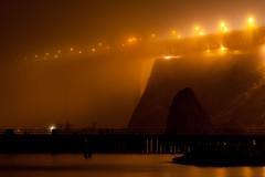 Golden Gate Glow (mjefferson111) Tags: sanfrancisco california bridge coastguard west fog pier ship jetty goldengatebridge sanfranciscobay sausalito pacificcoast cavalopointresort lauraandjasonwedding2010