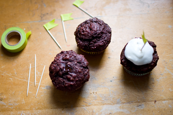 chocolate beet muffins : after