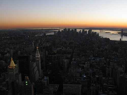 Manhattan at Sunset November 2010