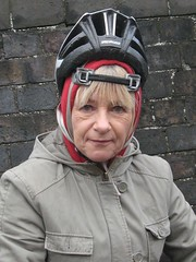 Angela and the new helmet style
