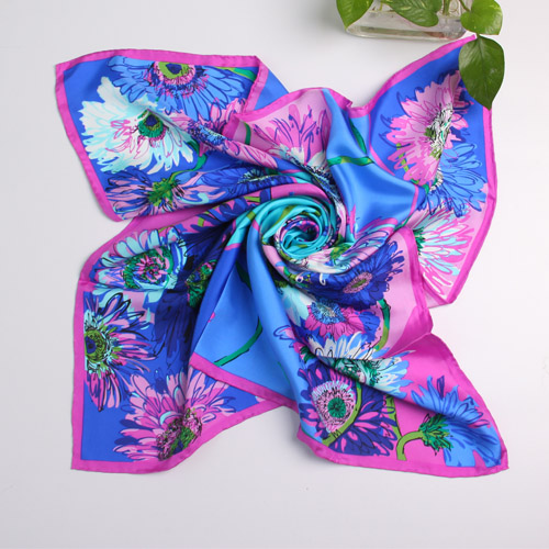 Lady's Fashion 100% Twill Silk Scarf(HA56104)