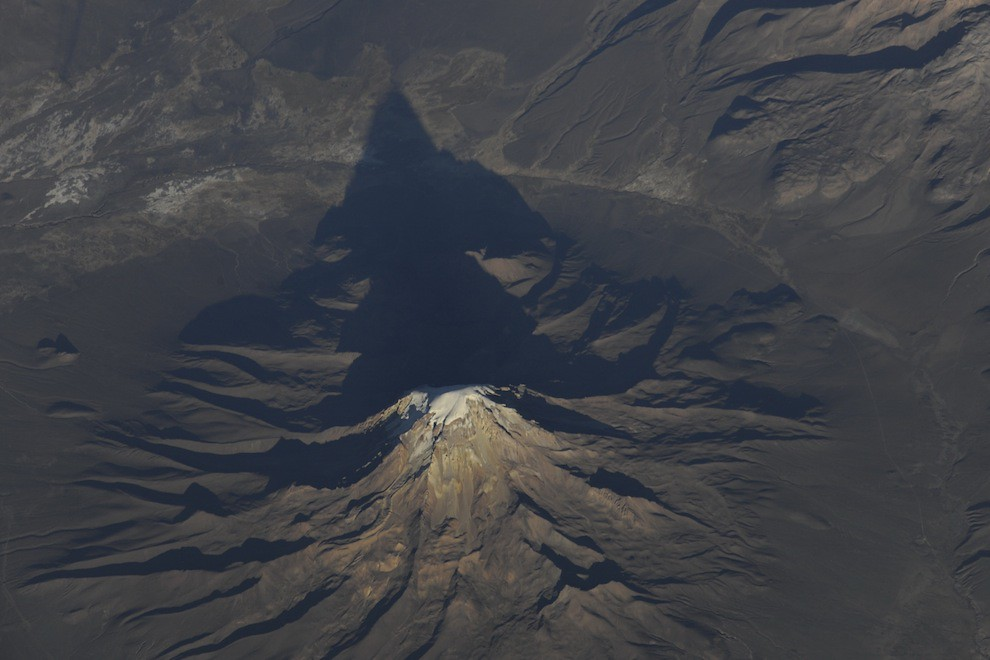 Incredible Photos from Space: Mountain in the Andes in South America