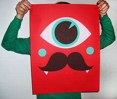 Mr. Movember Print (alexwestgate) Tags: illustration screenprint movember