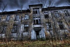 Kaserne Krampnitz (Maron) Tags: old blue windows red abandoned broken architecture germany forgotten hdr kaserne krampnitz supermarion marionnesje