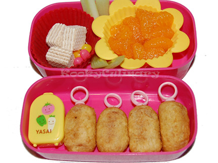 Bento #118 - Corn Dog Rings
