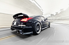 Nismo Zing (ojsantiago21) Tags: sunset canon nikon photographer nissan cincinnati d2x automotive 350 impact 5d z 350z manfrotto mkii brembo nismo z33 d300 superclamp automotivephotographer volkracing rigshot ojsantiago re30 vqhr 380rs