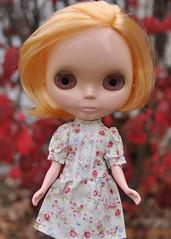 Agnes in a cute dress