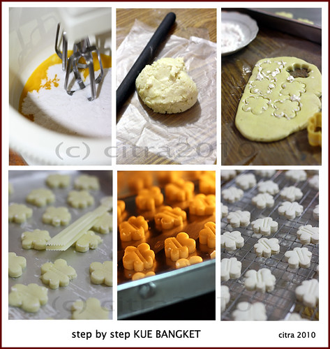 Step by step Kue Bangket