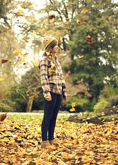 Thanksgiving (StevanFane) Tags: thanksgiving hot cute fall love girl beautiful leaves lady leaf girlfriend pretty dof bokeh southcarolina paige flannel beanie