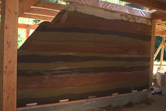 Freya's House: Rammed Earth Wall