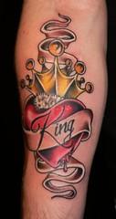 Crown, Heart & Lettering Tattoo (Southside Tattoo & Piercing) Tags: atlanta tattoo ga georgia point eric artist heart atl banner piercing tattoos east crown southside tatoos lettering piercings tatoo tatu eastpoint tattooist tat2 tatus piercer tattooer tat2s scsavnicki