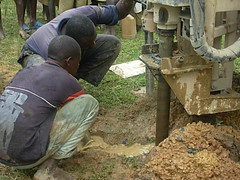 Drilling process at Ebusyubi Primary School