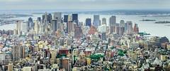 Manhattan (jon's suggestions) (stephencurtin) Tags: new york city skyline buildings river liberty view manhattan south vista stature thechallengefactory