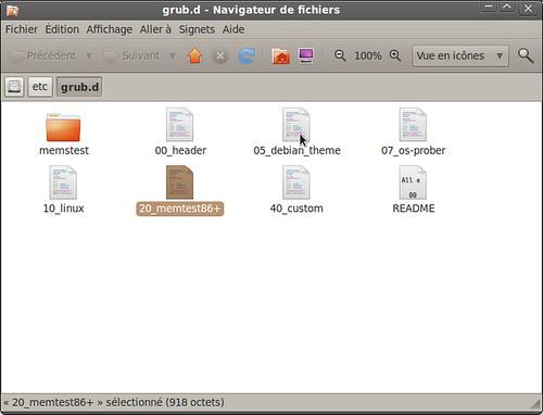 Fichiers dans grub.d