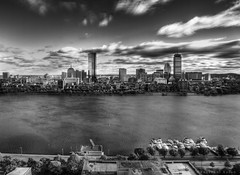 The Two Towers (bijoyKetan) Tags: city monochrome boston skyline night clouds blackwhite cityscape cloudy redsox ketan canon1585mmisusm bijoyketan