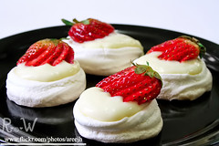 Pavlova (R..W  ) Tags: red black strawberry cream pudding eggs