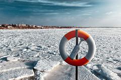 Its safe to swim (Sergei-P) Tags: winter light sea sky cold color ice coast nikon sweden varberg 18mm 18105 halland d7000
