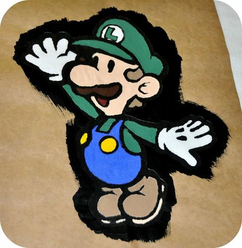 Luigi Freezer Paper Stencil