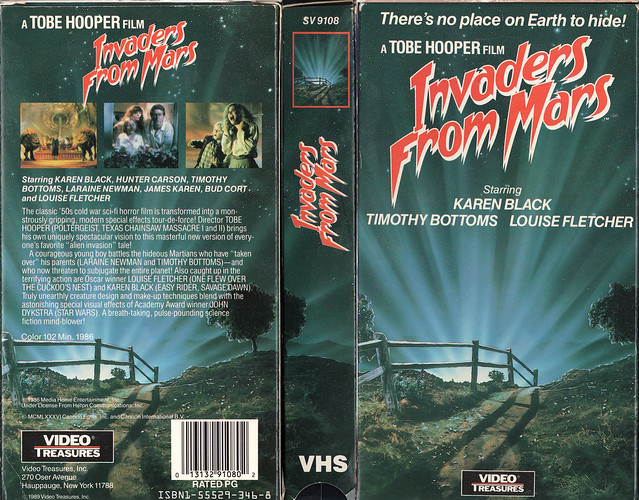 INVADERS FROM MARS (VHS Box Art)