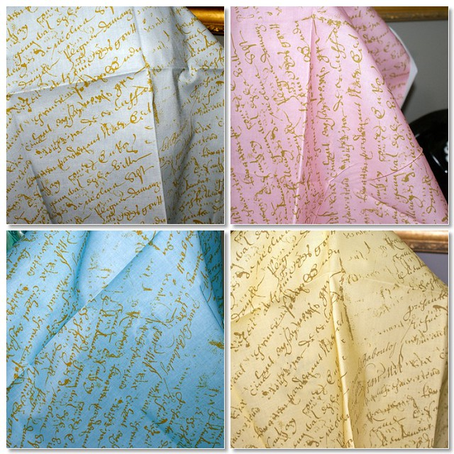 French Script on Spoonflower