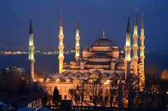 Altı Minareli Camii (Yavuz Alper) Tags: longexposure architecture night nikon istanbul historical ottoman bluemosque minarets sultanahmet fatih marmara kadikoy haydarpasa gece bosporus thebestofday gününeniyisi d7000