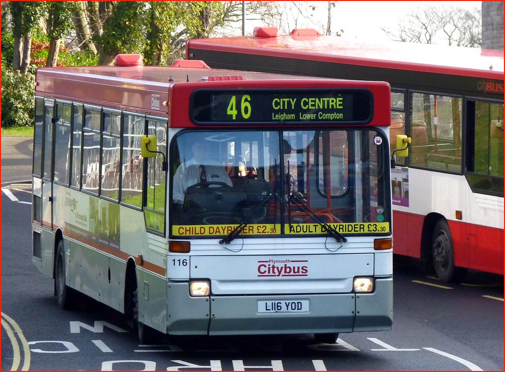 Plymouth Citybus 116 L116YOD Derriford 12 Feb 2011