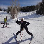 Celine Rytz (Fernie Alpine Ski Team) at Aspen Nor-Am Hey Gregor, let's go skiing!