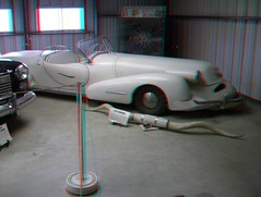 PATE MUSEUM ONE OF A KIND CAR MADE FOR AN OIL RICH TEXAN (REDFURD) Tags: pate museum 3d anagylph red cyan