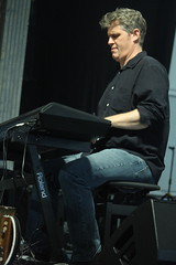 Rhiannon Giddens (2017) 06 - Dirk Powell (KM's Live Music shots) Tags: americana unitedstates dirkpowell rhiannongiddens electronickeyboard neworleansjazzheritagefestival bluestent fairgroundsracecourseneworleans