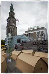 Kamperen op de Grote Markt... (a.stokman) Tags: arjostokman© groninginnedag grotemarkt vvv vindicat groningen martinitoren