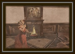 Tea Time (CallieDel Boa- in and out...) Tags: tea victorian style sl secondlife blonde elegance ladyinred goldenera