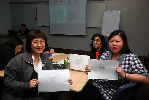 Caricature Workshop for AIA Alexandra - Day 1 - 31