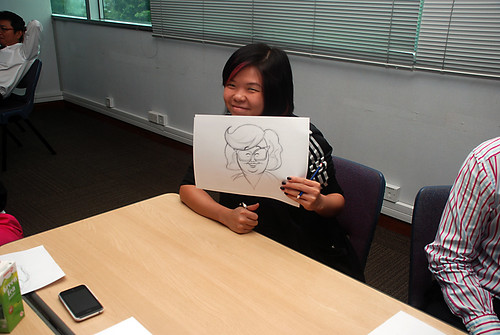 Caricature Workshop for AIA Alexandra - Day 1 - 23