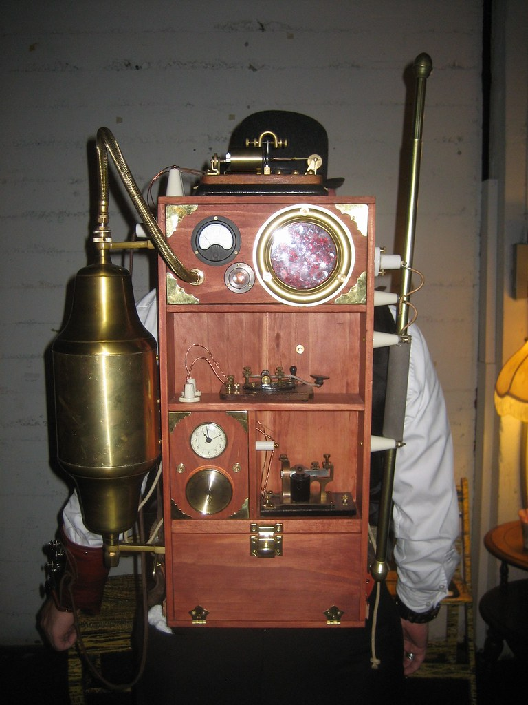 Steampunk portable wireless device