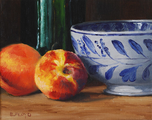 20100725 Peaches Bowl and Bottle 8x10