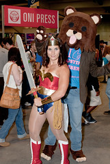 Wonderwoman and Pedobear (gtrwndr87) Tags: california costume nikon comic sandiego cosplay saturday wonderwoman convention nikkor comiccon con comicconvention sdcc costumed sandiegocomiccon pedobear sdcc2010