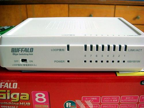 Buffalo Gigabit 1000 MBps 8 ports Hub